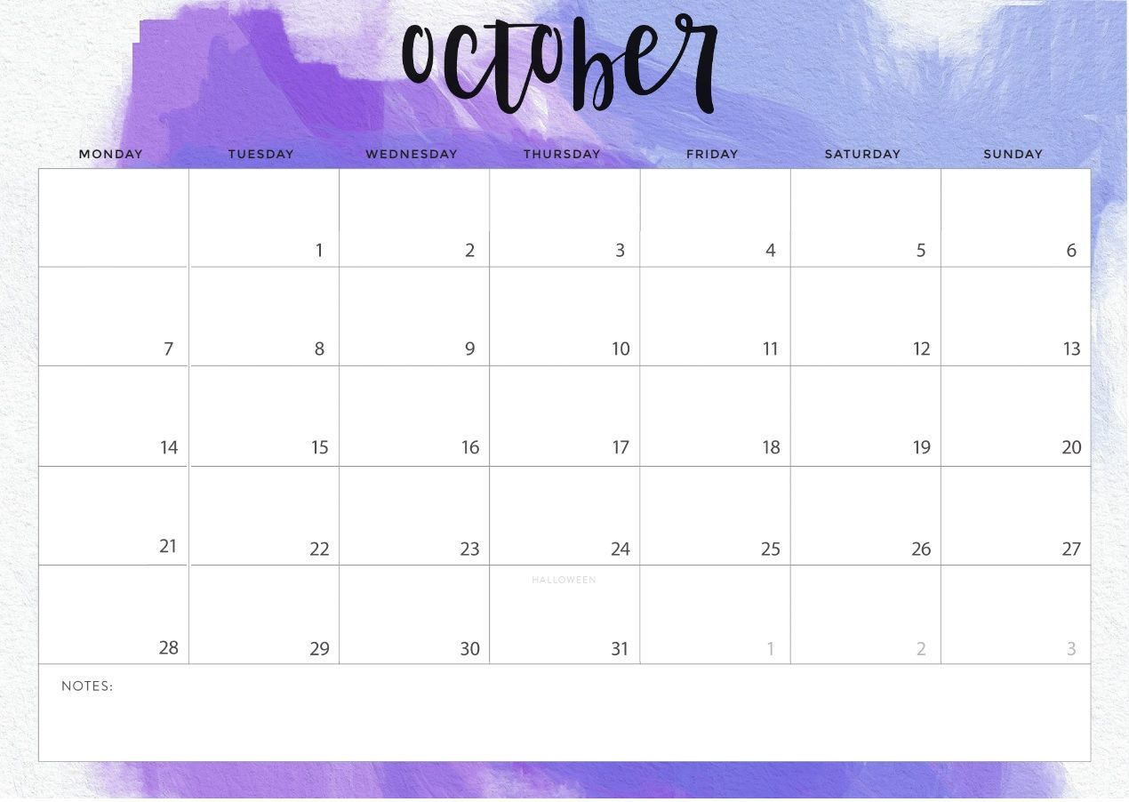 graphic regarding Printable Calendar for October named Ko-fi - Free of charge Oct 2019 Printable Calendar - Ko-fi