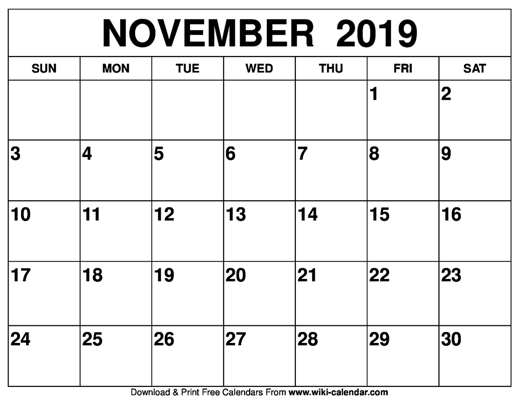 graphic about Printable Calendar November identify Ko-fi - Free of charge November 2019 printable calendar - Ko-fi