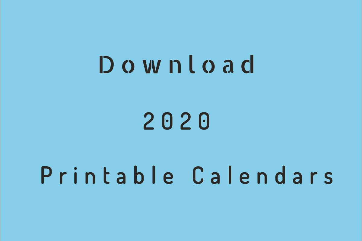 It is a photo of Enterprising Free Printable Calendars for 2020