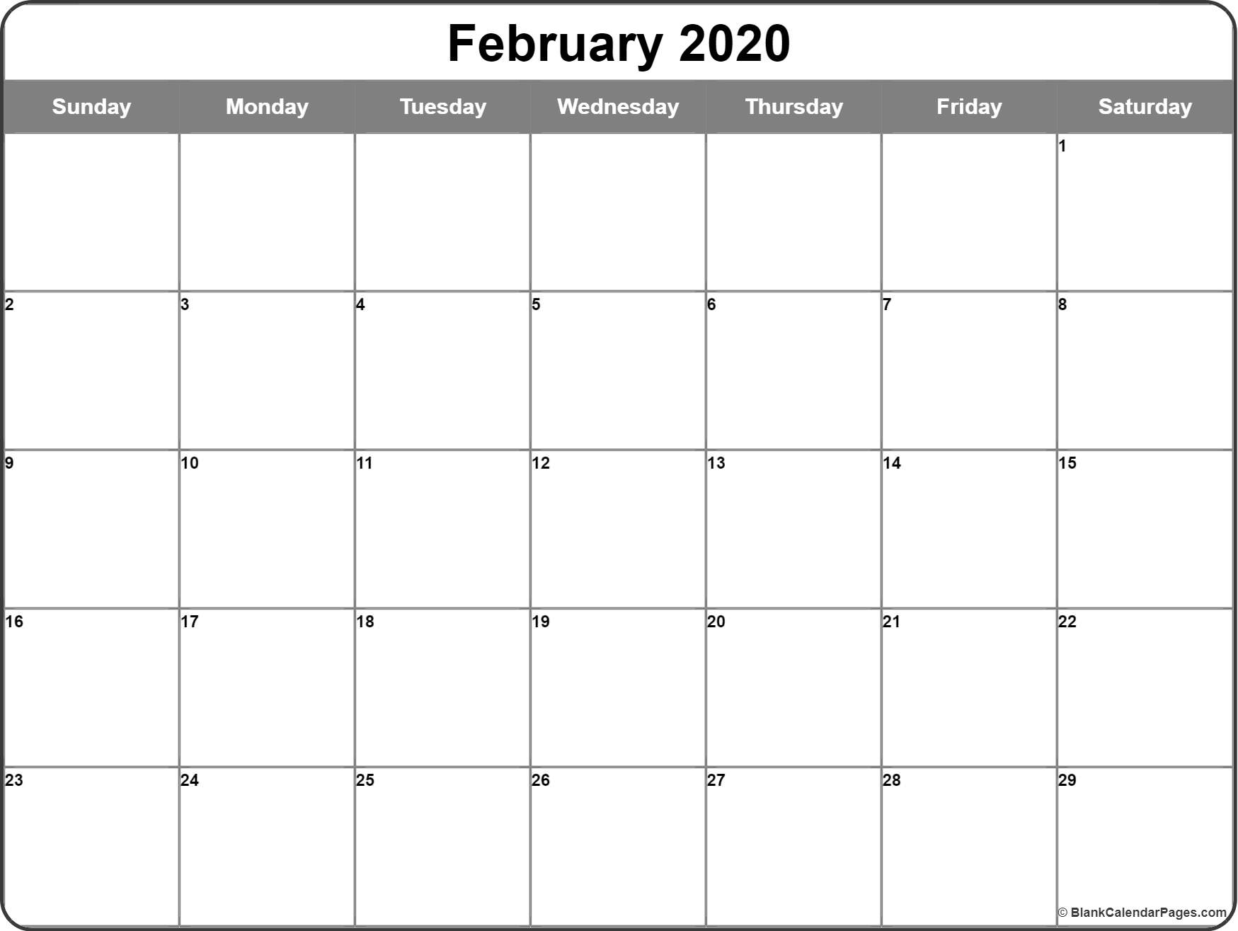 It is an image of Superb Free Printable Blank Calendars 2020