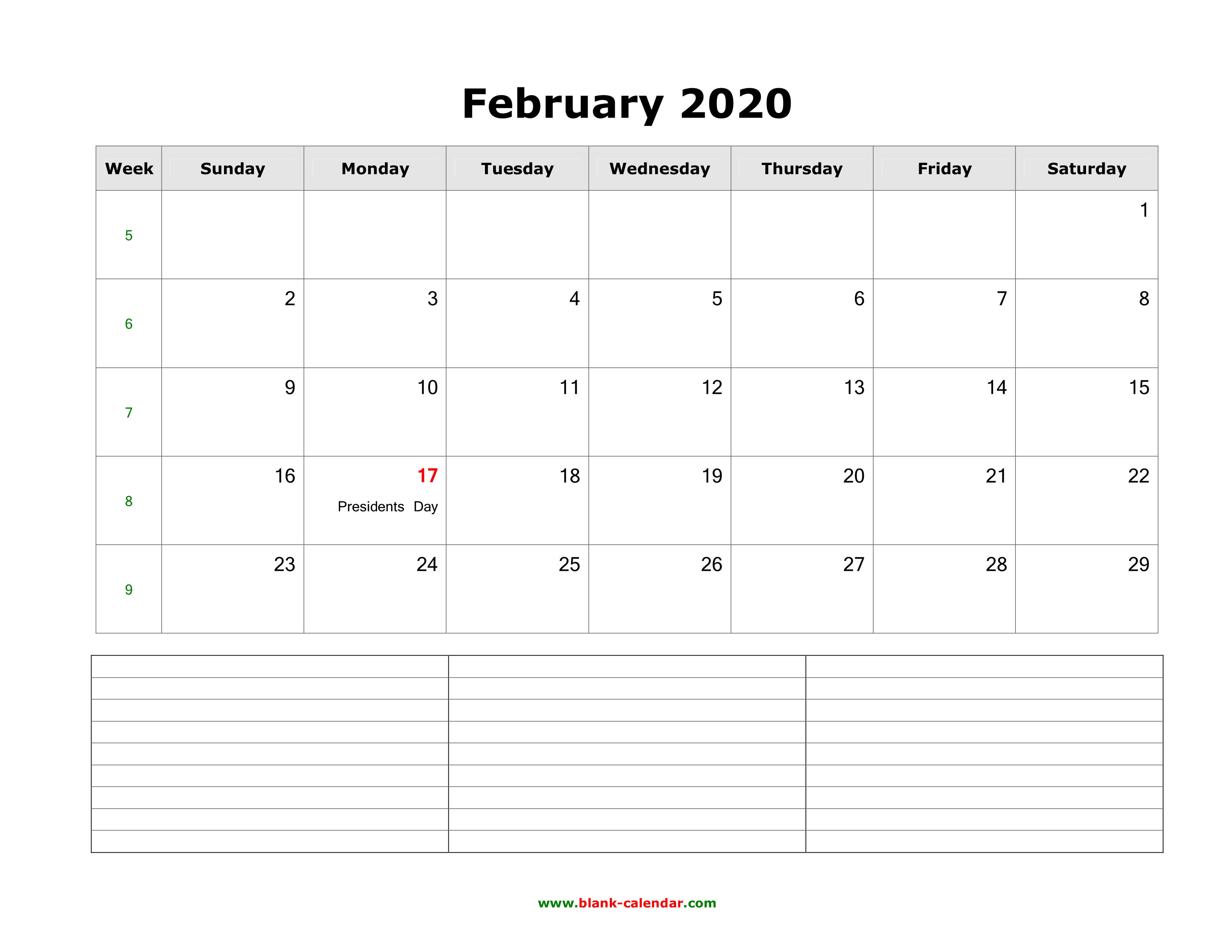 This is an image of Gratifying Free Printable Calendars February 2020