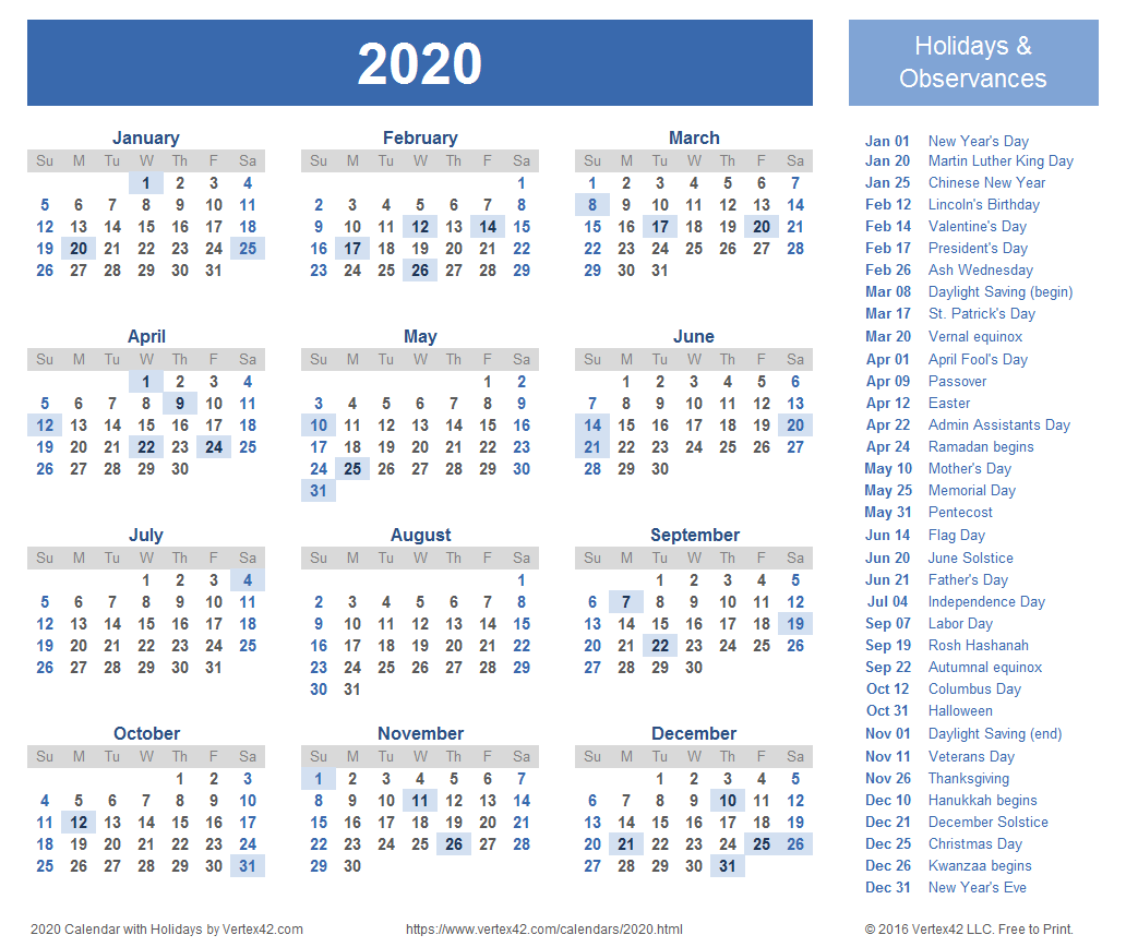 2020 -2018 Calendar Ko fi   Free 2020 Printable Calendar   Ko fi ❤️ Where creators