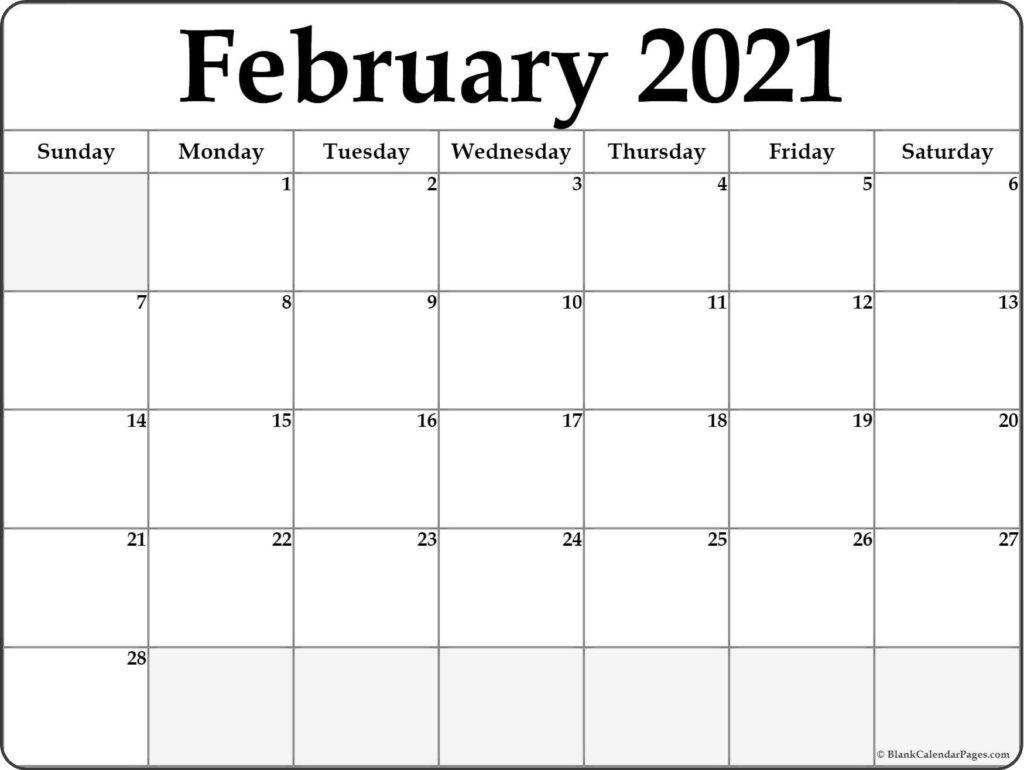 February 2021 Calendar Printable - Blank Templates